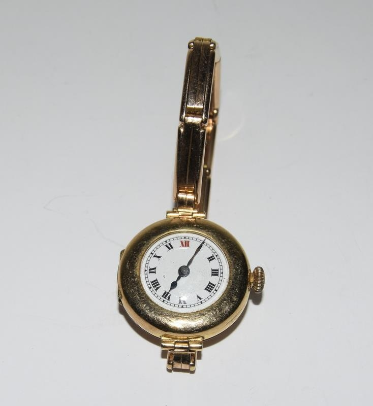 15ct Gold ladies watch and strap together with 9ct White Gold bracelet. - Image 3 of 8