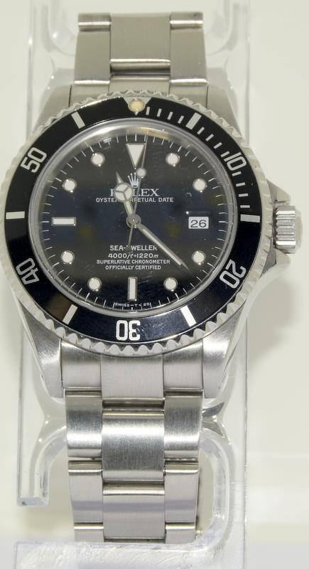 Rolex Sea Dweller gents wristwatch. Model No. 16600. Approx 1998 U39****. Very good condition. - Image 2 of 10