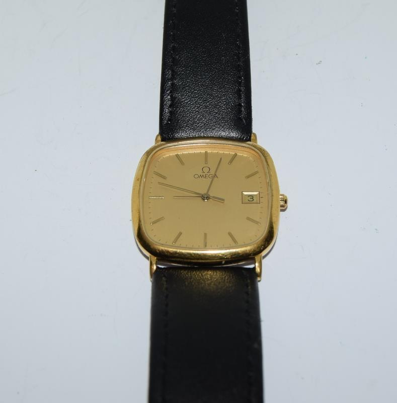 Omega Deville Gold plated gents wristwatch - working.