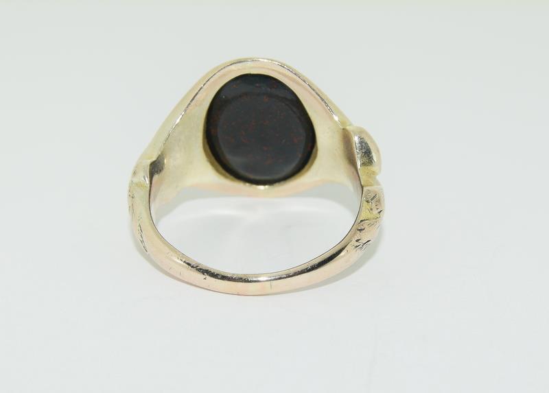 9ct Gold Signet Ring. - Image 3 of 5