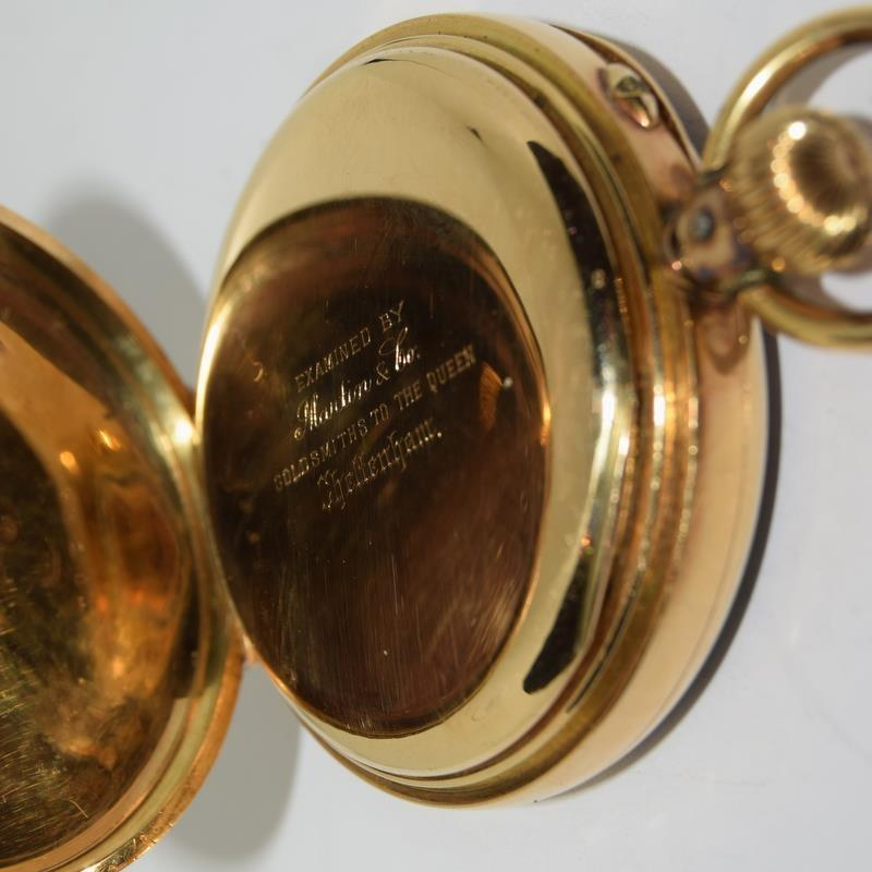 18ct Gold Full Face Pocket Watch. - Image 7 of 20