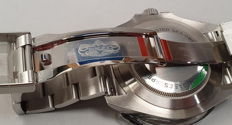 Rolex Anniversary Red Sea Dweller, boxed and papers, unworn with stickers. - Image 9 of 10