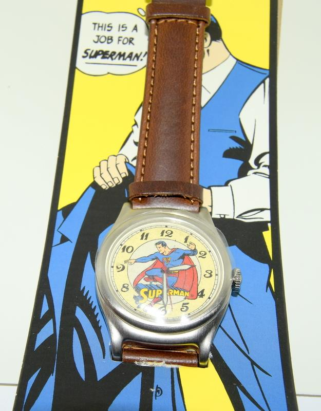 Vintage Superman Fossil Collectors watch. Complete with badge, papers and both boxes. - Image 4 of 5