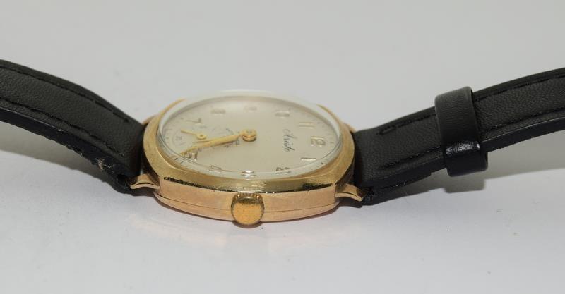 9ct Gold Atisto wrist watch of railway interest. - Image 4 of 8