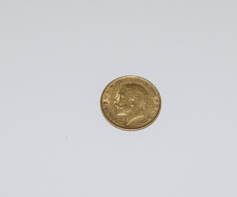 1913 Half Sovereign Coin
