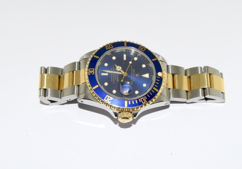 Rolex Submariner Bi Metal wristwatch. Model.no 16613 approximate year 1994 or 5588### end link no - Image 8 of 9