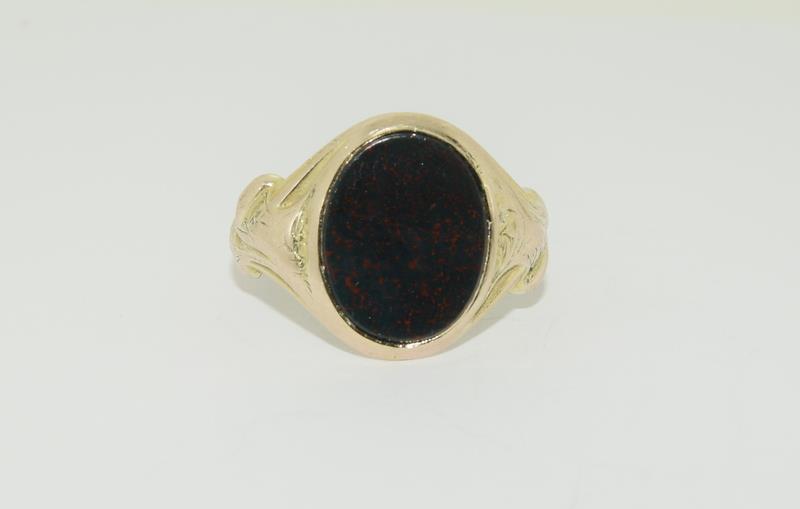 9ct Gold Signet Ring.