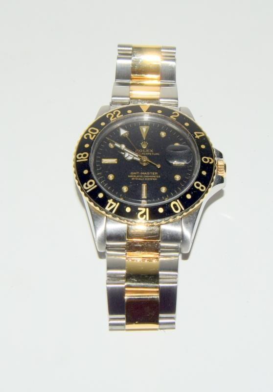 Rolex Bi Metal GMT Master Wristwatch, Dial. Serial No.8781026. - Image 3 of 16