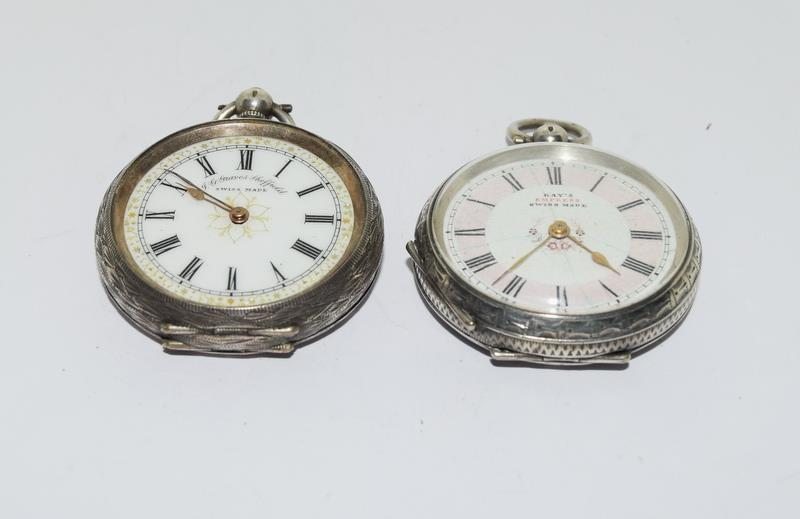 2 Silver pocket watches. - Image 2 of 6