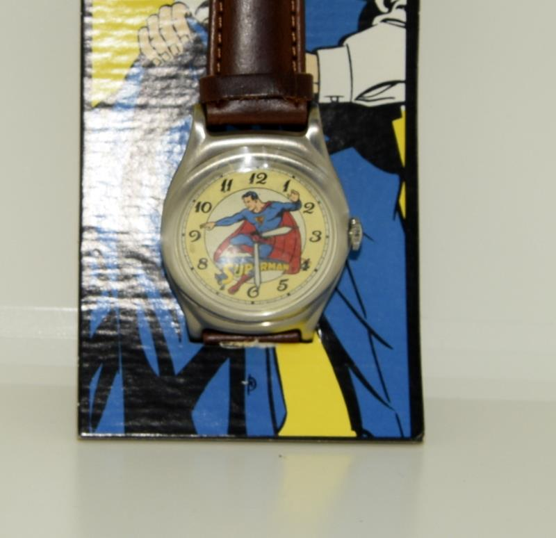 Vintage Superman Fossil Collectors watch. Complete with badge, papers and both boxes. - Image 3 of 5