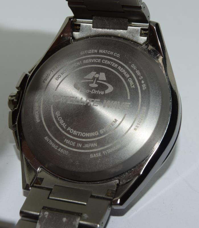 Citizen Eco-Drive Satellite eave Steel mans watch. - Image 9 of 13