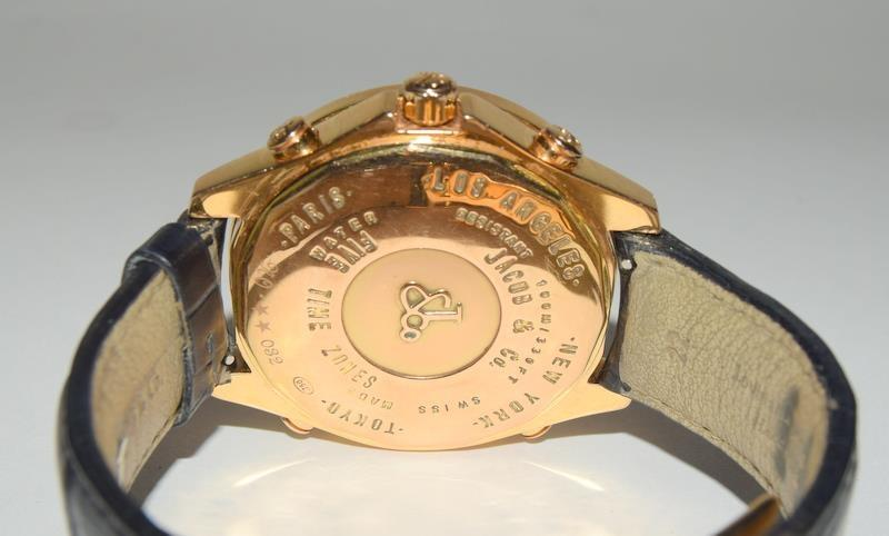 18ct Jacob & Co World Time Gents wristwatch, boxed. - Image 3 of 8