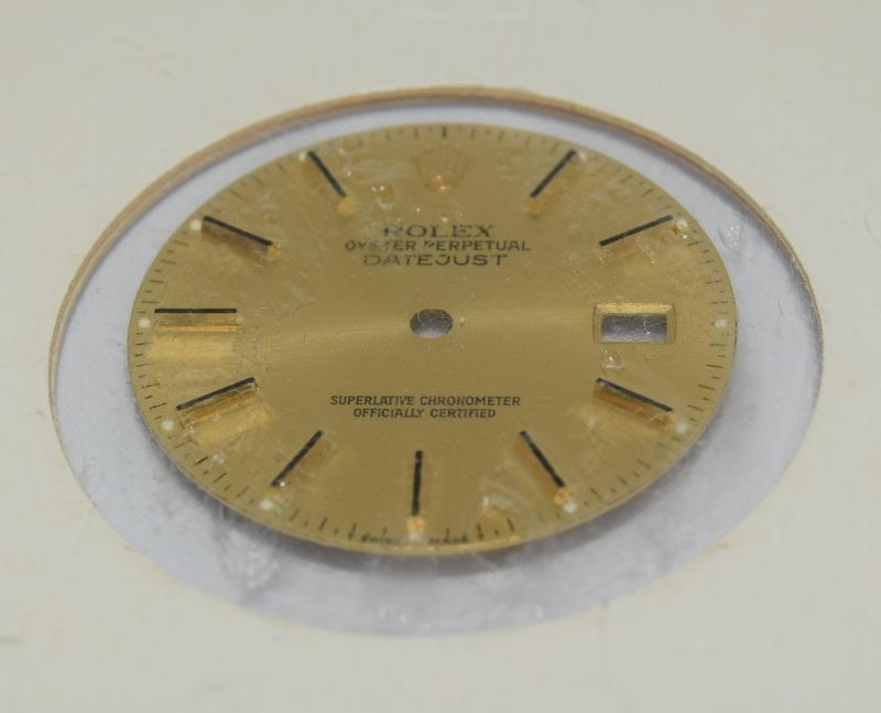 Rolex Genuine Datejust dial, excellent condition. - Image 2 of 4