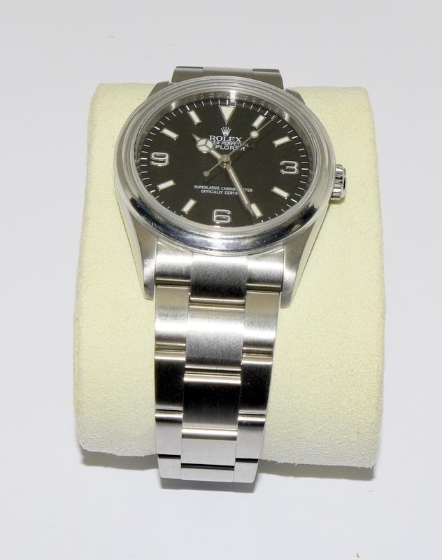 Rolex Explorer 1 Oyster watch - 36mm with bezel protector, spare link. Excellent condition, with - Image 2 of 10