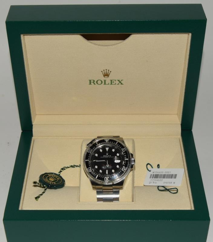 Rolex Anniversary single Red Sea-Dweller Wristwatch, boxed. - Image 7 of 7