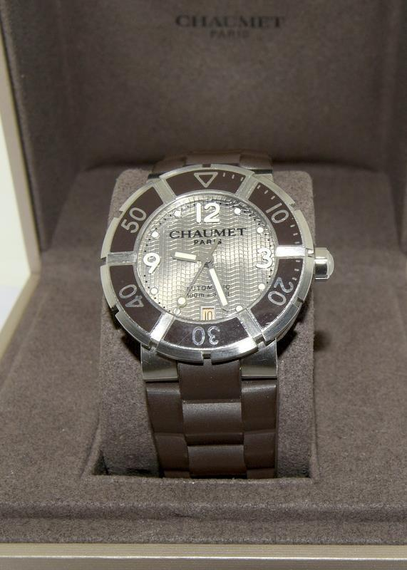 Chaumet Class One mid size Automatic wristwatch - Ref W17282-38C with inner box and some papers. - Image 2 of 8