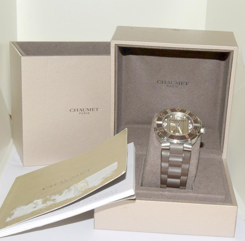 Chaumet Class One mid size Automatic wristwatch - Ref W17282-38C with inner box and some papers.