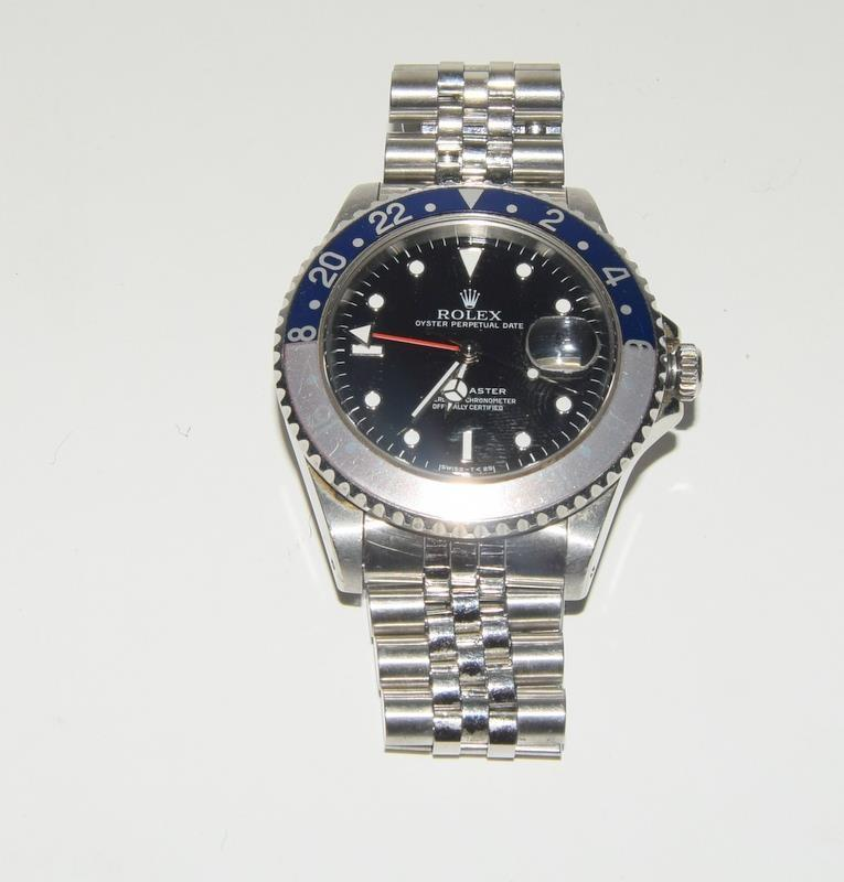 Rolex GMT Master Wristwatch. Model No.16700 with Ghost Bezel. Boxed, papers and spare links. - Image 7 of 7