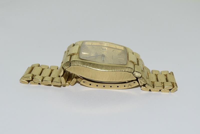Gents 18ct gold IWC automatic wristwatch bark effect bracelet with gold dial,working order ,total - Image 4 of 8