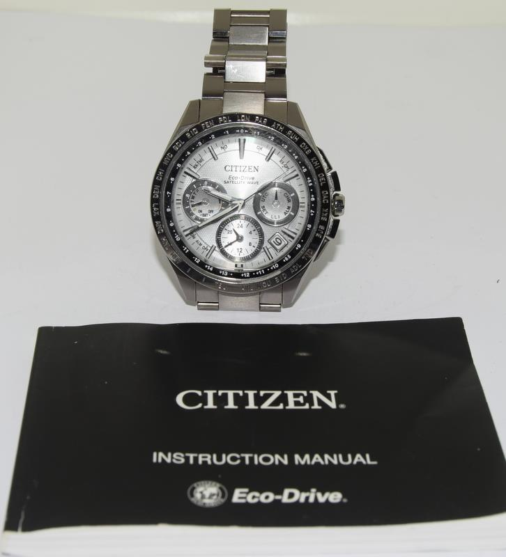 Citizen Eco-Drive Satellite eave Steel mans watch. - Image 2 of 13