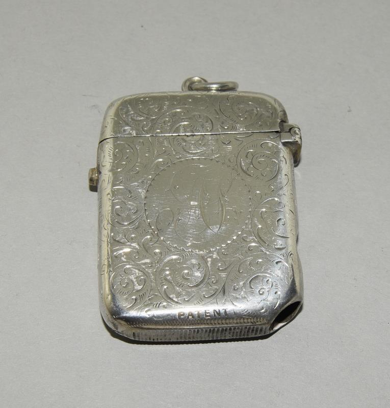 Silver Vesta Case with Fitted Match Ejector - Image 2 of 7