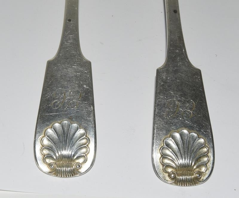 Six Sliver hallmarked serving spoons. 315 grams. - Image 2 of 4
