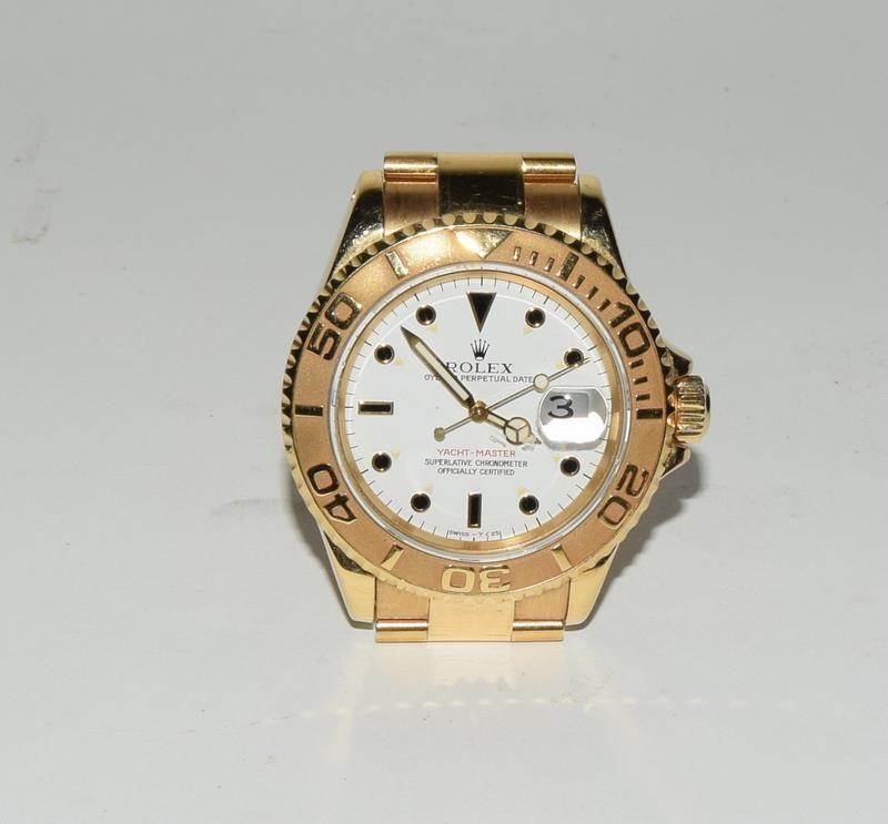 Rolex 18ct Gold Yachtmaster Wristwatch in original box. - Image 7 of 8