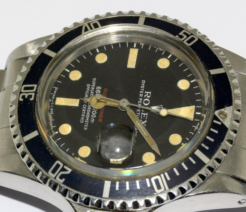 Rolex 1680 'Single Red' Submariner gents wristwatch . Movement 1570 number 306#### 1970s dial has - Image 10 of 11