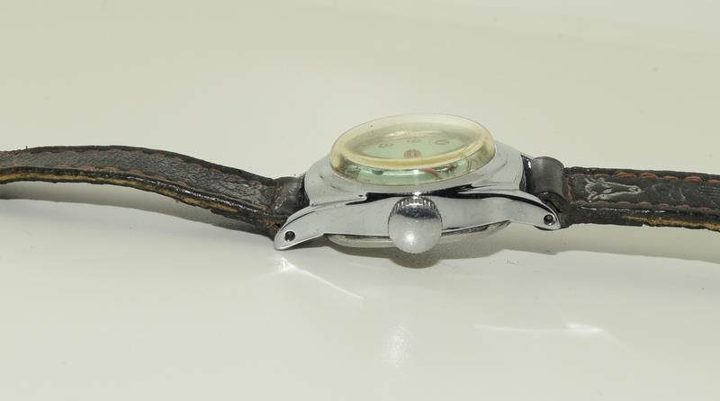 "Timex Hop Along Cassidy manual wind 1950s original watch. Signed on the back ""Good Luck Hoppy "" - Image 4 of 5"
