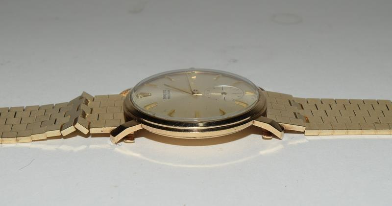 9ct Gold Rolex Precision wristwatch on original Rolex Gold bracelet. - Image 4 of 8