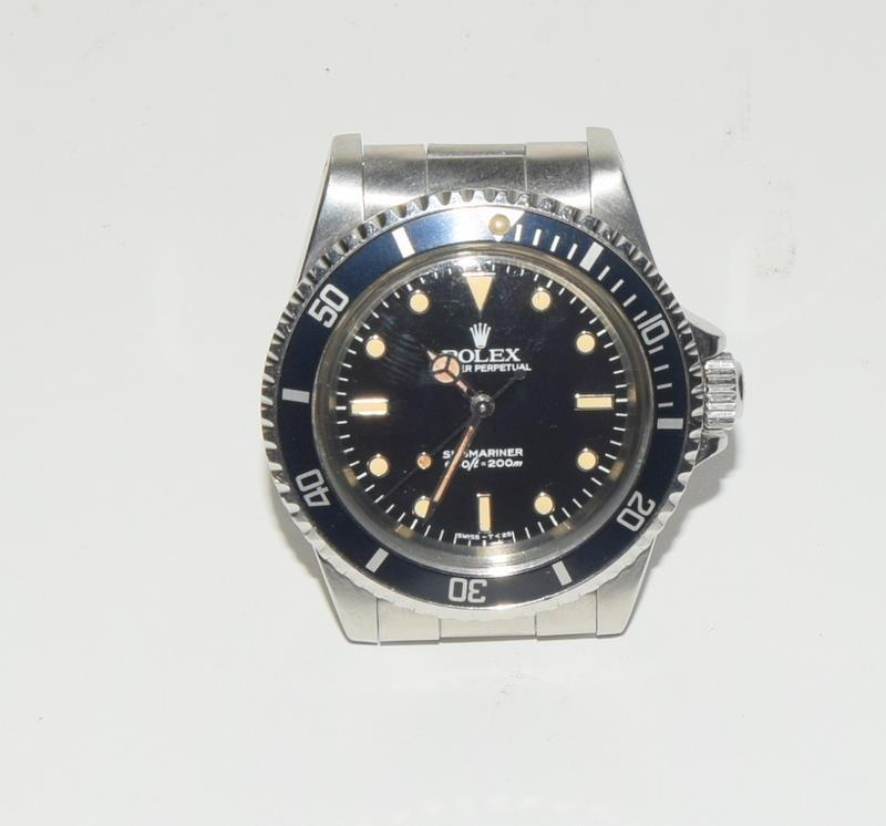 Rolex Submariner Spider Dial wristwatch. Model No.5513, boxed. - Image 2 of 8
