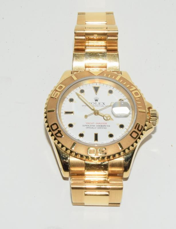 Rolex 18ct Gold Yachtmaster Wristwatch in original box. - Image 2 of 8