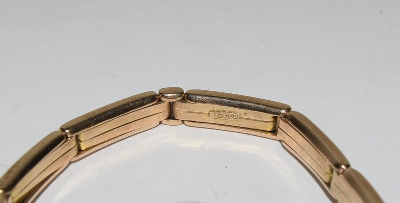 15ct Gold ladies watch and strap together with 9ct White Gold bracelet. - Image 4 of 8