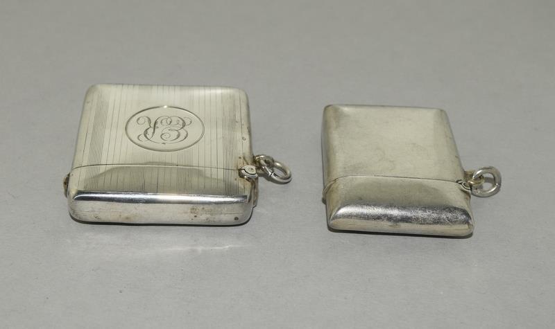 2 Silver Hallmarked Vesta Cases - Image 5 of 5