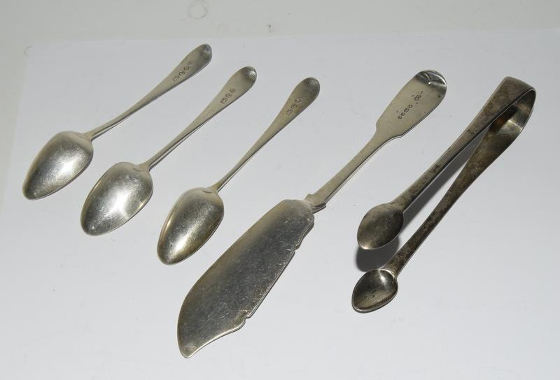 Silver sugar nips together with misc Silver items. 130 grams. - Image 2 of 5