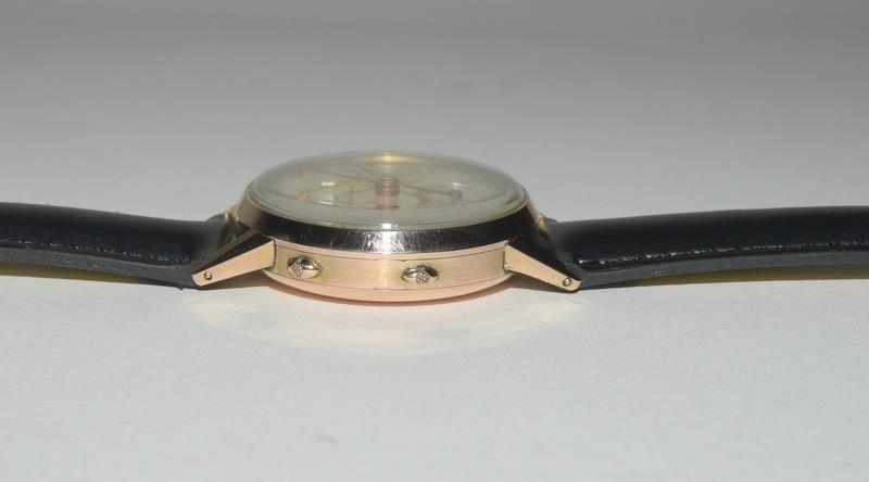 18ct Rose Gold Leonodas Triple Calander Chronograph Wristwatch. No.492472. - Image 3 of 6