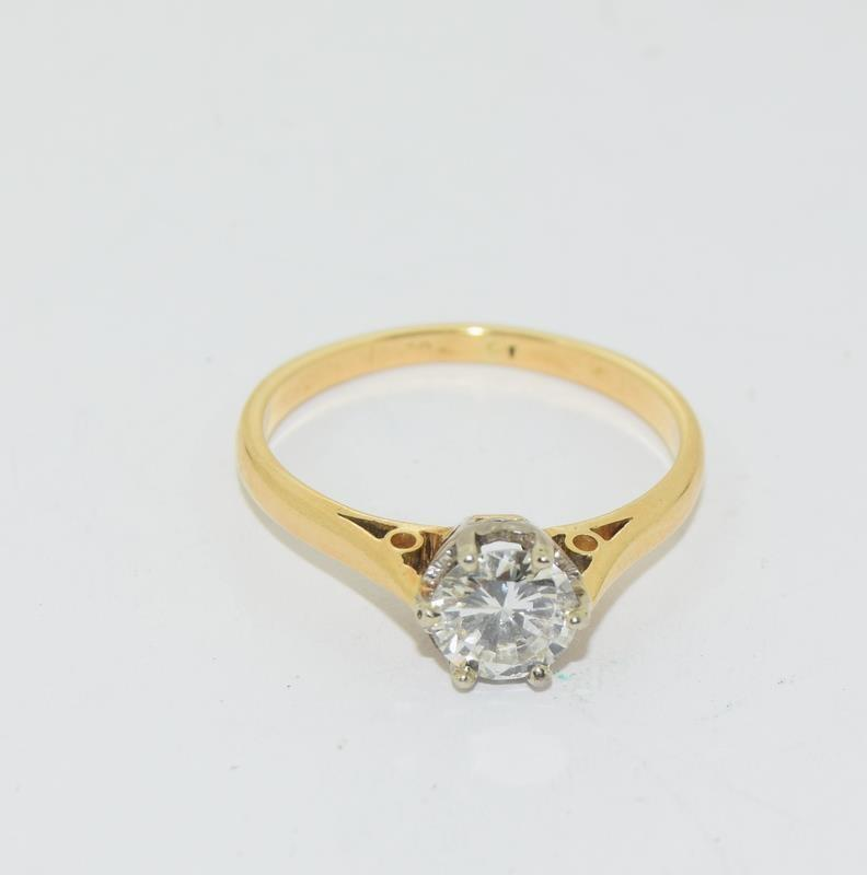 18ct Gold ladies Diamond Solitaire ring. Size N. - Image 11 of 12