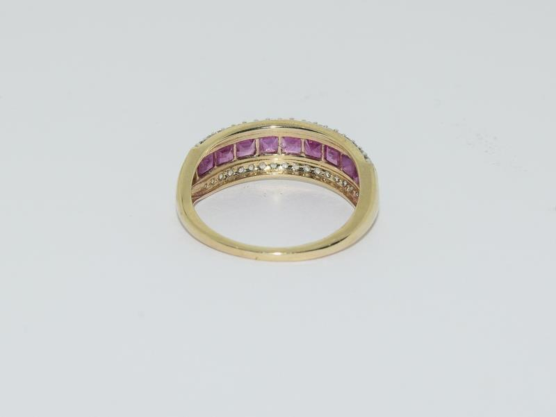 A 9ct gold Burmese ruby Cambodian ring with certificate, size P - Image 4 of 7
