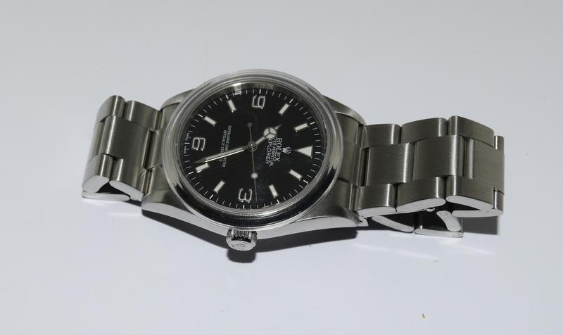 Rolex Explorer 1 Oyster watch - 36mm with bezel protector, spare link. Excellent condition, with - Image 9 of 10