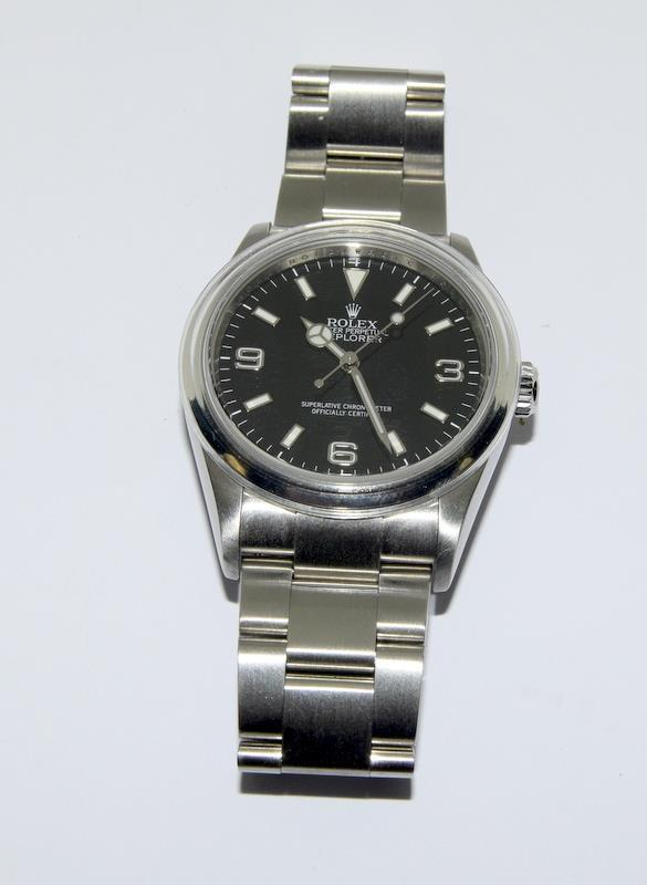 Rolex Explorer 1 Oyster watch - 36mm with bezel protector, spare link. Excellent condition, with - Image 3 of 10