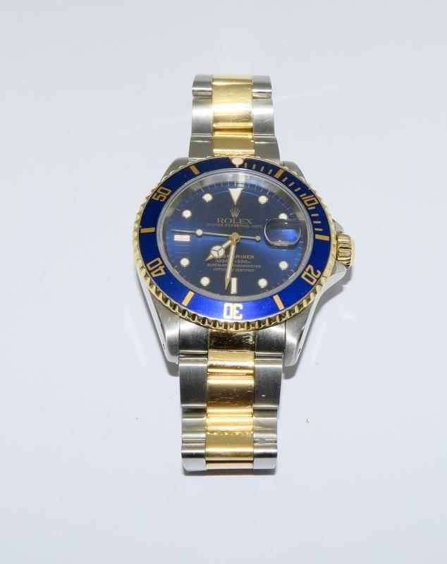 Rolex Submariner Bi Metal wristwatch. Model.no 16613 approximate year 1994 or 5588### end link no - Image 7 of 9