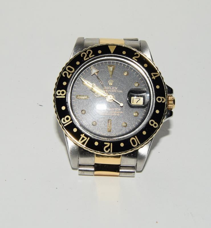 Rolex Bi Metal GMT Master Wristwatch, Dial. Serial No.8781026. - Image 5 of 16
