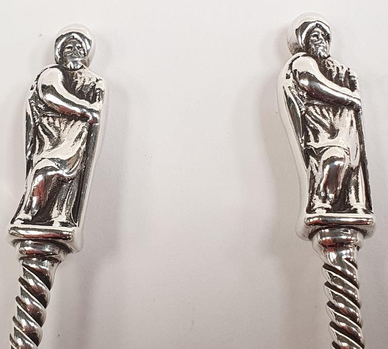 Pair of silver large apostle spoons. - Image 2 of 2