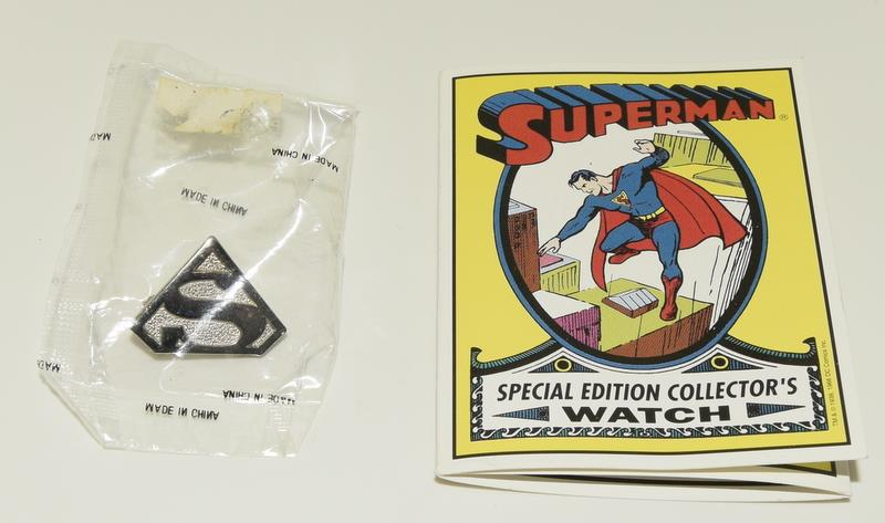 Vintage Superman Fossil Collectors watch. Complete with badge, papers and both boxes. - Image 5 of 5