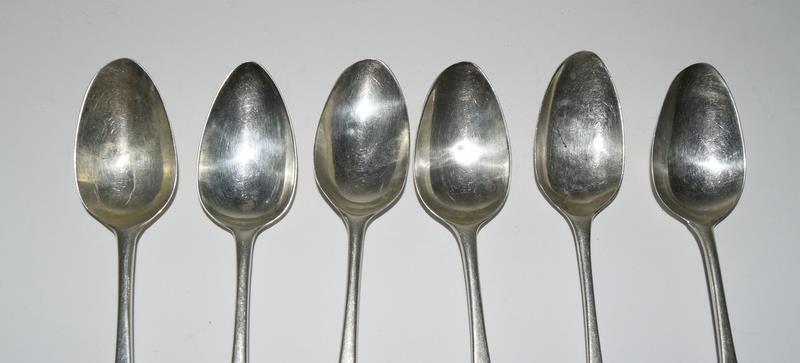 Six Silver hallmarked teaspoons. 95 grams. - Image 2 of 5