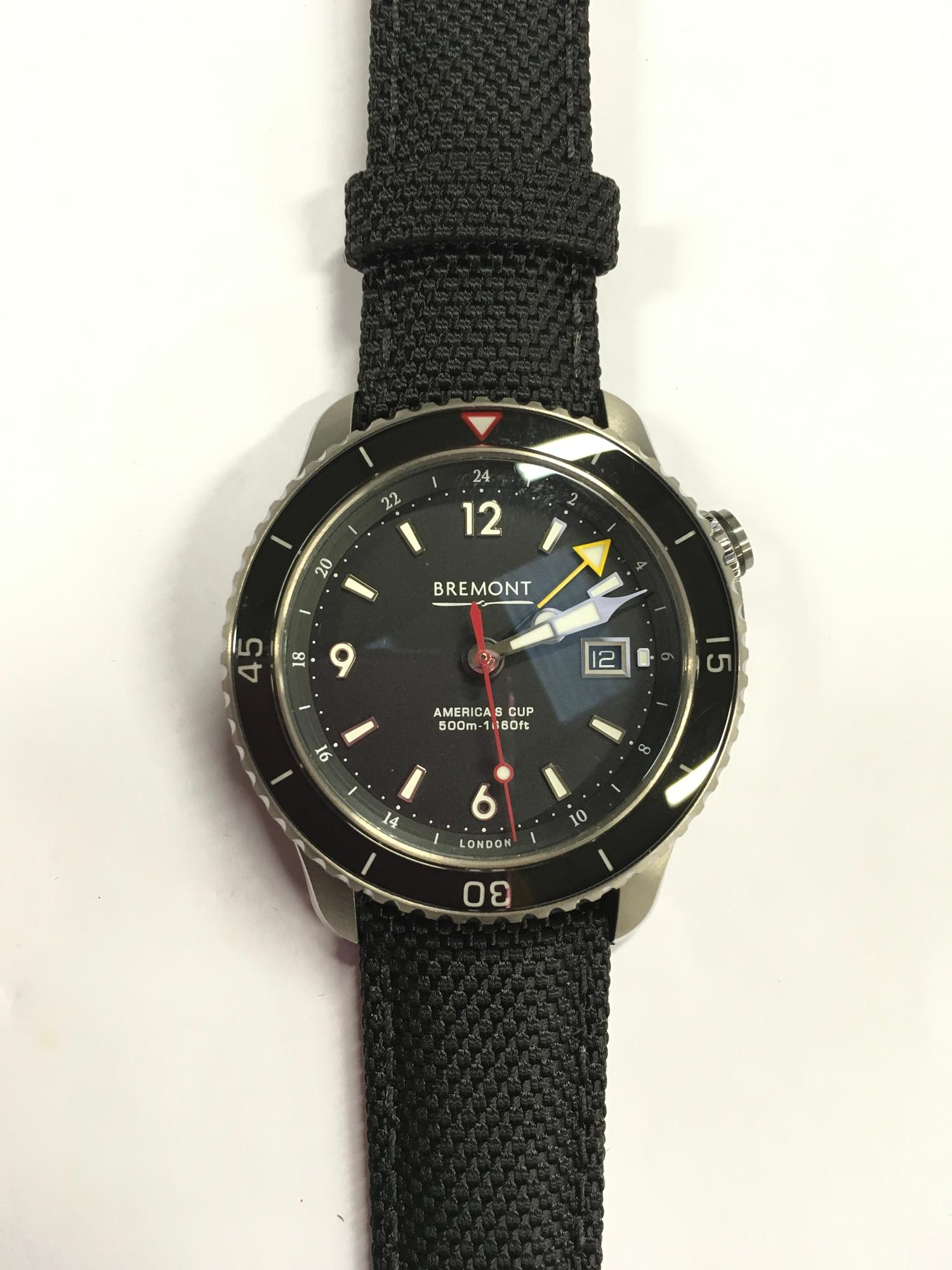 Stainless Steel Bremont America's Cup Watch, as new and complete, Limited Edition No 007/535.