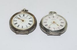 2 Silver pocket watches.