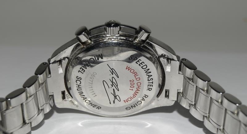 Omega Limited Edition Michael Schumacher watch with box and papers. Number 6977 of 11111. - Image 6 of 9