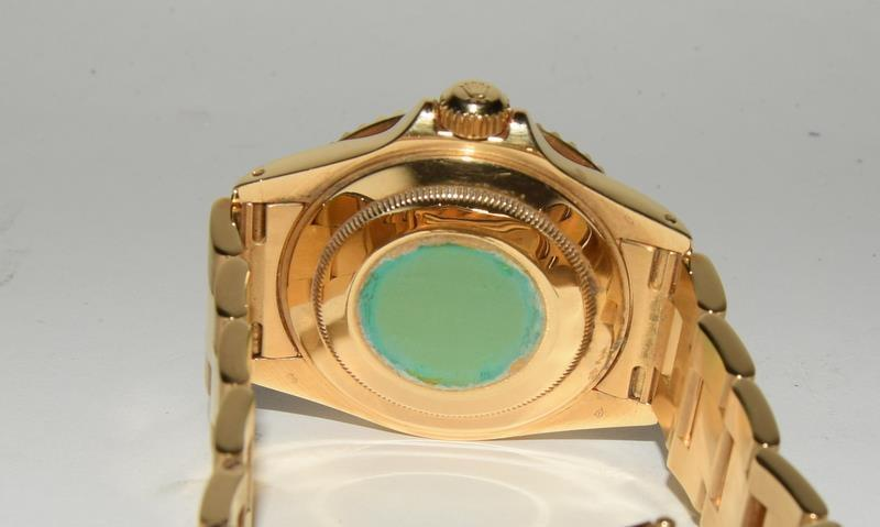 Rolex 18ct Gold Yachtmaster Wristwatch in original box. - Image 3 of 8