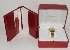 Ladies 18ct Gold Cartier Tank Quartz Watch.